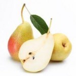 Ripe pears.Objects are isolated on a white background.
